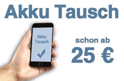Akku Tausch schon ab 25 €