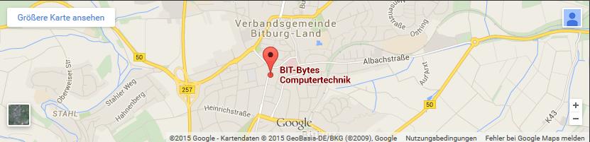 Anfahrtskarte BIT-Bytes Computertechnik