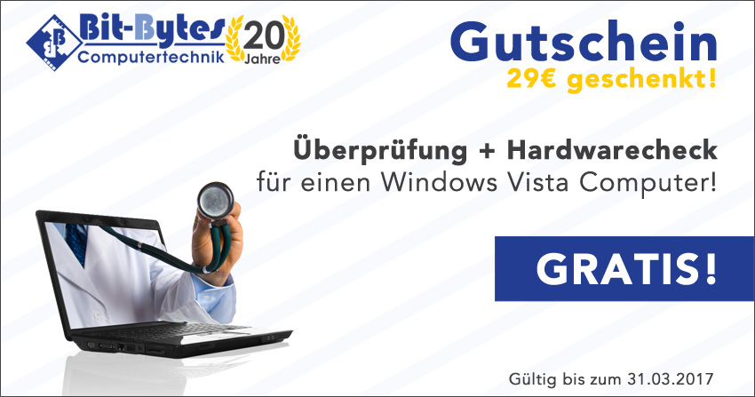 29€ Gutschein! Gratis Check für Windows Vista